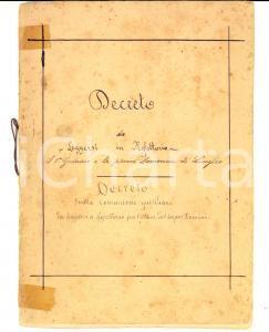 1870 ca Decreto sullo stato dei Regolari per autorità di Pio IX *Manoscritto