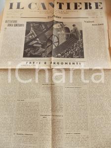 1934 IL CANTIERE Il fascismo è una rivoluzione *Giornale politico Anno I n°1
