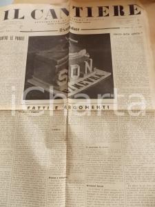 1934 IL CANTIERE Riforma dello Stato fascista *Giornale politico Anno I n° 3