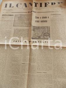 1934 IL CANTIERE Propaganda nazista e grande Germania *Giornale Anno I n° 25