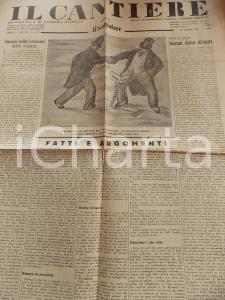 1935 IL CANTIERE Interessi italiani all'estero *Giornale politico Anno II n° 21