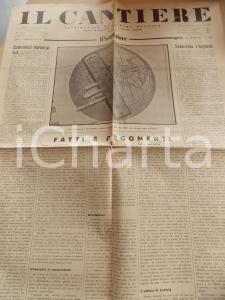1934 IL CANTIERE Modernità del fascismo - Antisemitismo *Giornale Anno I n° 20