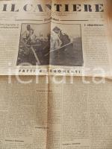 1934 IL CANTIERE La Germania e gli armamenti *Giornale politico Anno I n° 10