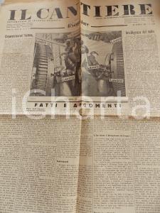1935 IL CANTIERE Corporazioni e propaganda rivoluzionaria *Giornale Anno II n°16