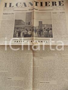 1935 IL CANTIERE Oppositori del fascismo - Biblioteche *Giornale Anno II n° 5