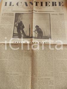 1934 IL CANTIERE Rovesciamento del marxismo - Corporazioni fasciste *Giornale