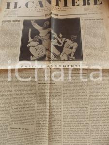 1934 IL CANTIERE Case rurali - Fascismo svizzero *Giornale politico Anno I n° 32