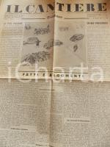 1935 IL CANTIERE Autarchia economica - Codice del lavoro *Giornale Anno II n° 2