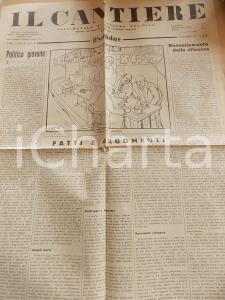 1934 IL CANTIERE Autarchia e rivoluzione corporativa *Giornale anno I n° 27