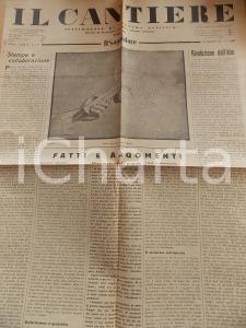 1934 IL CANTIERE Sessualità e Fascismo *Giornale politico Anno I n° 12