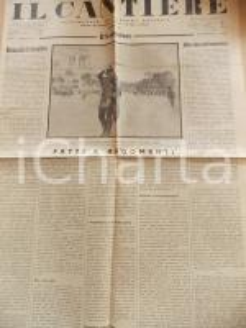 1934 IL CANTIERE Corporativismo - Fascismo e romanità *Giornale Anno I n° 16