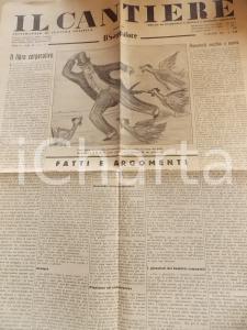 1935 IL CANTIERE Roosevelt - Scuola e Opera Balilla *Giornale Anno II n° 23