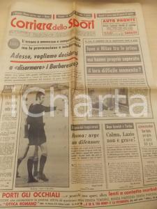 1973 CORRIERE DELLO SPORT CALCIO Disarmare l'arbitro Enzo BARBARESCO *Giornale