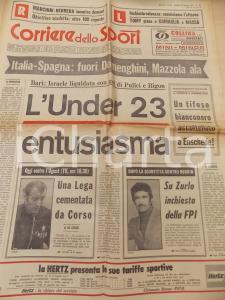 1971 CORRIERE DELLO SPORT BOXE Incontro Alan RUDKIN - Franco ZURLO *Giornale