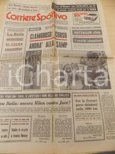 1973 CORRIERE DELLO SPORT Mario CORSO alla SAMPDORIA - BATTAGLIN alla TRE VALLI