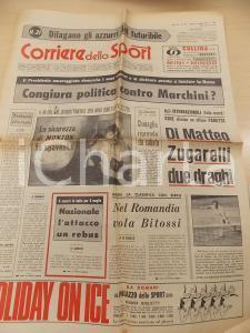 1971 CORRIERE DELLO SPORT BOXE Carlo MONZON attende Nino BENVENUTI *Giornale