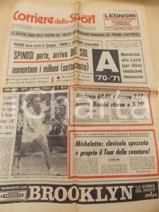 1970 CORRIERE DELLO SPORT TENNIS Trionfo di John NEWCOMBE a WIMBLEDON *Giornale