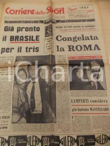 1962 CORRIERE DELLO SPORT CALCIO La ROMA congelata per debiti *Giornale