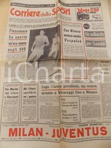 1973 CORRIERE DELLO SPORT Franco CARRARO nuovo presidente LEGA CALCIO *Giornale