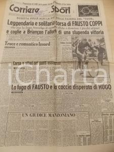 1951 CORRIERE DELLO SPORT CICLISMO TOUR DE FRANCE Fausto COPPI vince a Briançon