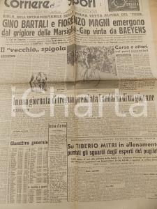 1951 CORRIERE DELLO SPORT CICLISMO TOUR DE FRANCE Gino BARTALI vince in montagna