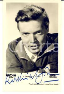 1960 ca Portrait of Karlheinz BOHM actor *Postcard FP NV AUTOGRAPH