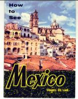 1961 How to see MEXICO - Pieghevole tour WAGONS-LITS/ COOK 20 pp. *TURISMO