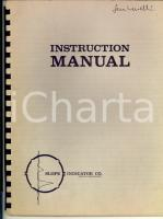 1960 SEATTLE SLOPE INDICATOR Co. - Instruction manual with figures 44 pp.