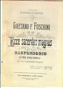 1920 ca Gaetano FOSCHINI Ecce sacerdos magnus - Responsorio *Marcello CAPRA