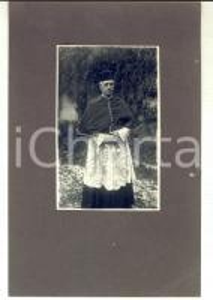 1930 ca AREA PIEMONTESE Ritratto di un vescovo *Fotografia VINTAGE 17x24 cm