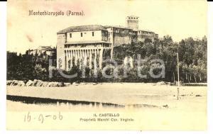 1906 MONTECHIARUGOLO Veduta del castello *Cartolina a Clotilde RUFFINI FIASTRI