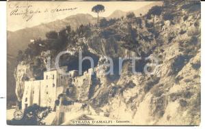 1900 ca AMALFI Catacombe *Cartolina principessa di SCANNO a Margherita AMAR