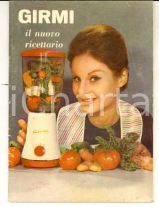 1960 Frullatore GIRMI Il nuovo ricettario - ILLUSTRATO 28 pp. VINTAGE