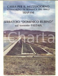 1960 ca TRAPANI Serbatoio DOMENICO RUBINO sul torrente FASTAIA *Pieghevole