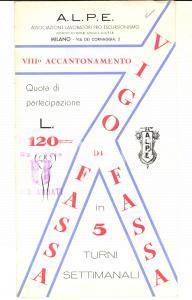 1950 ca VIGO DI FASSA (TN) VIII Accantonamento A.L.P.E. Pieghevole ILLUSTRATO