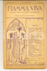1923 FIAMMA VIVA Padre GERONI in Sudamerica *Rivista femminile anno III fasc. 7