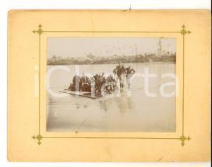 1910 ca NORDAFRICA (?) Truppe coloniali guadano un fiume *Foto VINTAGE 17x14