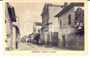 1943 BASSIGNANA (AL) Chiesa di SAN LORENZO *Cartolina ANIMATA FP NV
