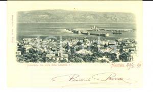 1899 MESSINA Panorama *Cartolina Giovanni Battista RIVETTI a famiglia TEMPINI