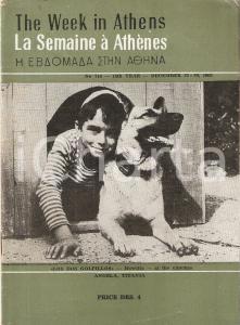 1962 THE WEEK IN ATHENS * Guida turistica ATENE + cartina, pubblicità * 34pp.