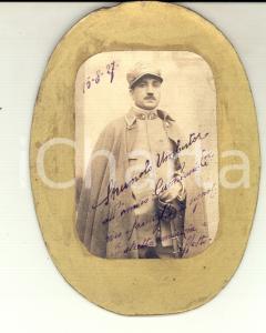 1927 REGIO ESERCITO Ritratto dell'ufficiale Umberto STRUMOLO con la mantella