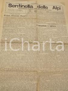 1924 CUNEO SENTINELLA DELLE ALPI Il gen. Clemente PEROL *Giornale anno 77 n° 45