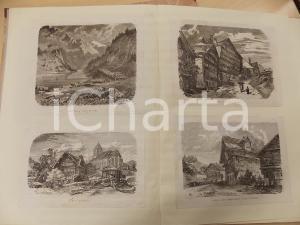 1880 ca LA SVIZZERA Due volumi con illustrazioni di Alessandro CALAME e altri