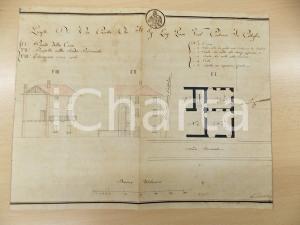 1830 ca CITTIGLIO (VA) Progetto di una casetta per Luigi PIANA sulla provinciale