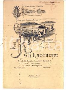 1890 ca VERBANIA G. B. RACCHETTI Le regate *Spartiti pianoforte con AUTOGRAFO