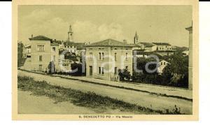1943 SAN BENEDETTO PO (MN) Veduta di via MAZZINI *Cartolina postale FP NV