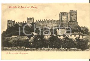 1900 ca PONTI SUL MINCIO (MN) Veduta del castello *Cartolina postale FP NV
