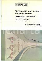 1970 ca BARI Ditta PIGNONE SUD Supervisory and remote control systems *Catalogue