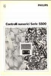 1970 ca PHILIPS Controlli numerici serie 550 *Opuscolo pubblicitario 6 pp.