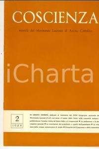 Febbraio 1965 COSCIENZA Congresso Movimento Laureati di AZIONE CATTOLICA Rivista